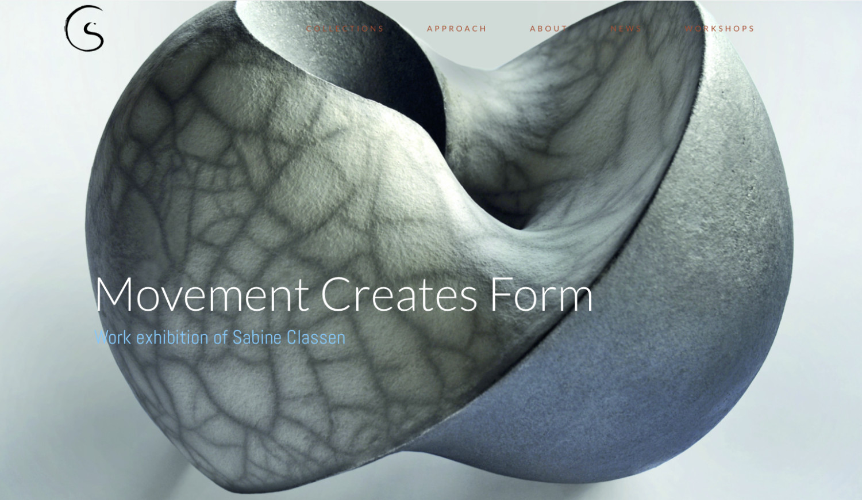 Screenshot der Webseite von Sabine Classen